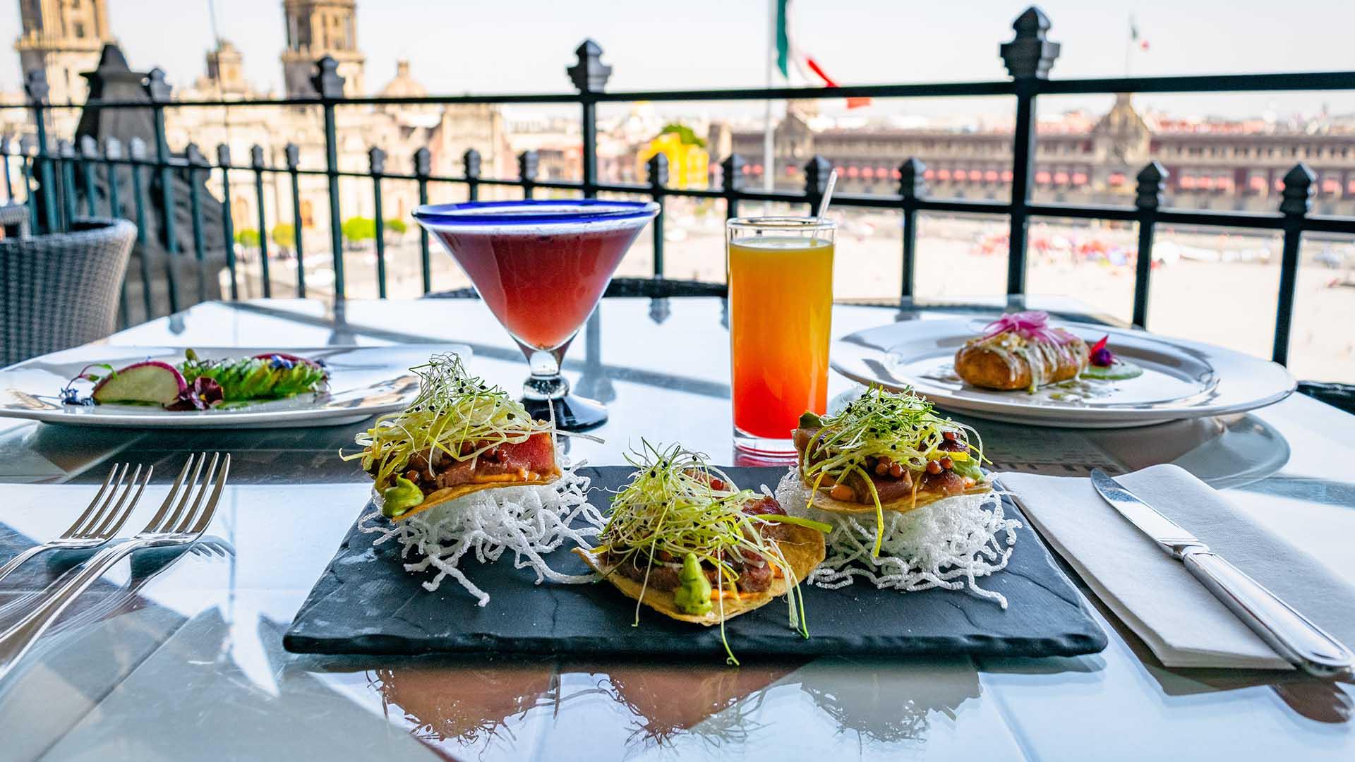 Comida en la terraza Gran Hotel