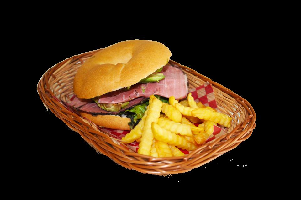 Bagel de roast beef